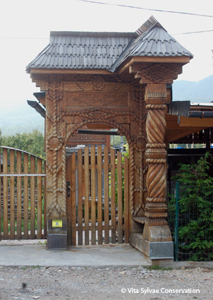Wooden carved gate
